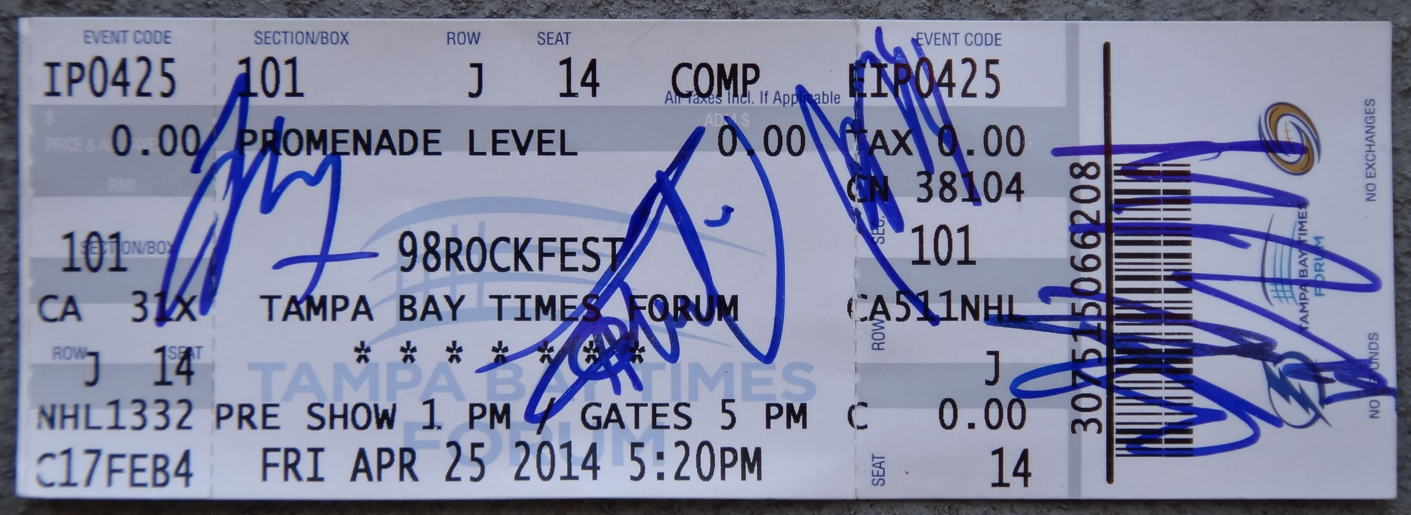 Have you ever paid forwon a meet and greet after a concert how was a7x signed ticket stub m4hsunfo