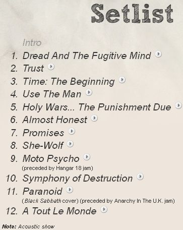 Index of /shows/setlists